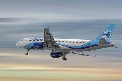 Mixed Media - Interjet Airbus A320-214 by Smart Aviation