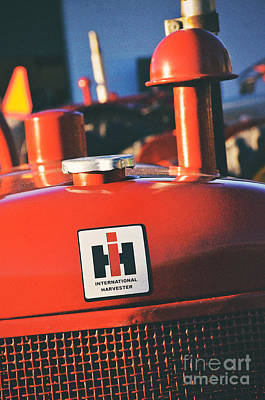 Photograph - International Harvester Logo by Rachel Barrett