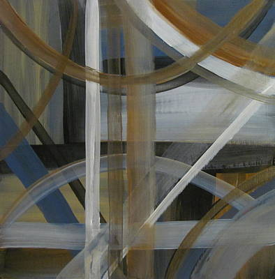Painting - Intersection In Blue 4 by Anita Burgermeister