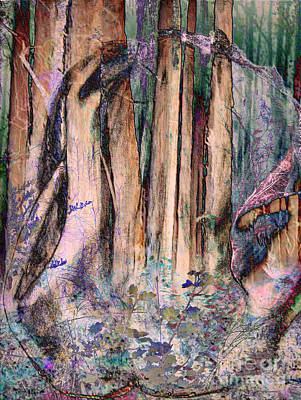 Mixed Media - Into The Forest 13 by Helene Kippert