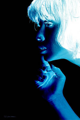 Young Woman Photograph - Inverted Realities - Blue  by Serge Averbukh