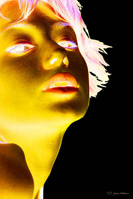 Beautiful Girl Photograph - Inverted Realities - Yellow  by Serge Averbukh