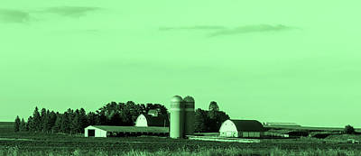 Iowa Farm Photograph - Iowa Farm Panorama by Mountain Dreams