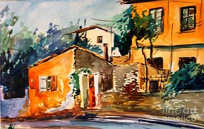 Painting - Ipiros Old Houses by George Siaba
