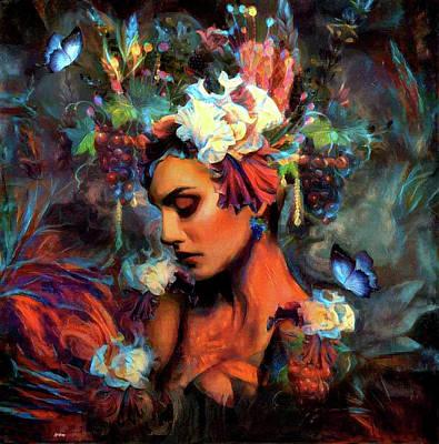 Erotica Mixed Media - Iris Beauty by G Berry