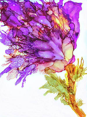 Painting - Iris Flower by Lilia D