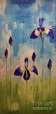 Painting - Irises by Donna Howard