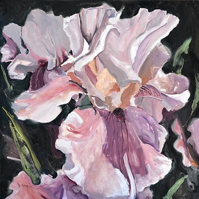 Iris Painting - Irises by Donna Tuten
