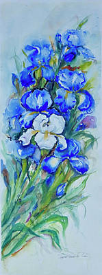 Painting - Irises by Ingrid Dohm