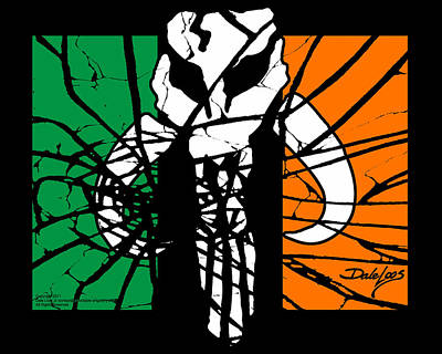 Digital Art - Irish Mandalorian Flag by Dale Loos Jr