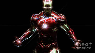 Iron Man Collection Art Print by Marvin Blaine