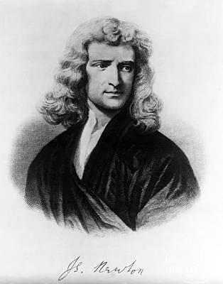 Isaac Newton, English Polymath Art Print by Omikron