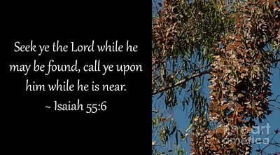 Photograph - Isaiah 55-6 1 by Glenn Franco Simmons