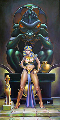 Isis And Osiris Art Print by Patrick Anthony Pierson