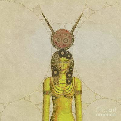 Holy Digital Art - Isis, Mother Goddess Of Egypt By Mary Bassett by Mary Bassett