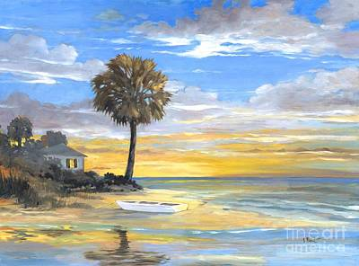 Bayou Painting - Islands Twilight by Paul Brent