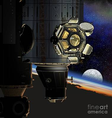 Borosilicate Photograph - Iss Viewing Portal, Artwork by David Ducros