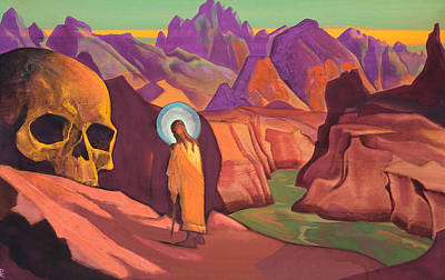 Contemplation Painting - Issa And The Skull Of The Giant by Nicholas Roerich