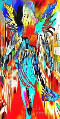 Abstract Airplane Art - Italian Angel by Catherine Lott