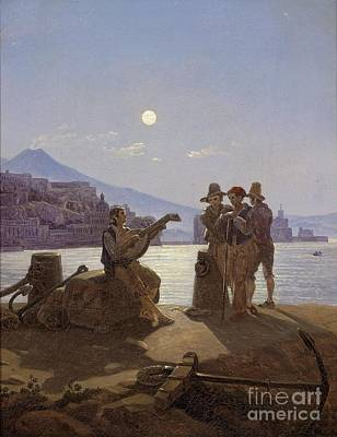 Dance Party Painting - Italian Fishermen In The Port Of Naples by Celestial Images