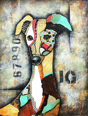Greyhound Mixed Media - Italian Greyhound by Patricia Lintner