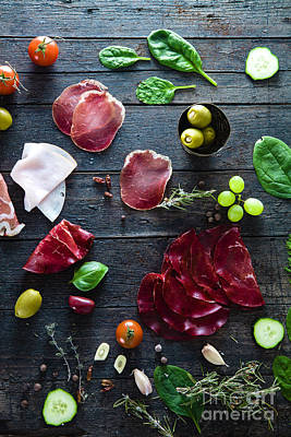 Italian Ham Art Print by Mythja Photography