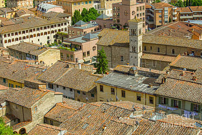 Photograph - Italian Roofs by Patricia Hofmeester