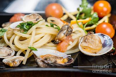 Italian Spaghetti And Clams Made In Naples Art Print