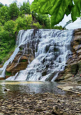 Photograph - Ithaca Falls by Judy Hall-Folde