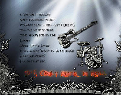 Digital Art - It's Only Rock 'n Roll by Michael Damiani