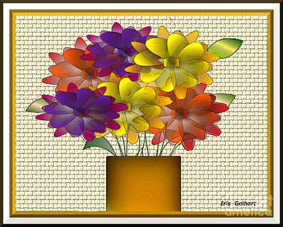 Digital Art - Its Time For Flowers by Iris Gelbart