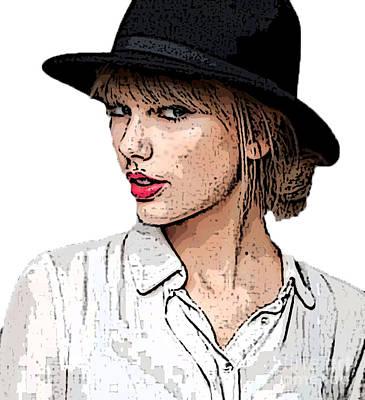 Taylor Swift Mixed Media - it's TS by Dee Art