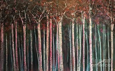 Painting - It's Twilight Birches by Heather McKenzie