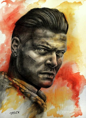 Drawing - Ivar The Boneless by Samantha Strong