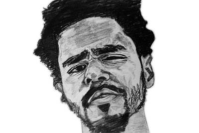Painting - J Cole by Rachel Natalie Rawlins