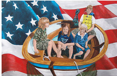 Painting - Jacc In The Boat by Kevin Callahan