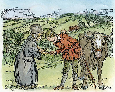 Rackham Photograph - Jack And The Beanstalk by Granger