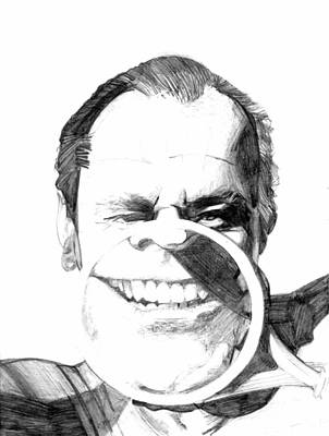 Jack Nicholson Drawing - Jack by Brian Child