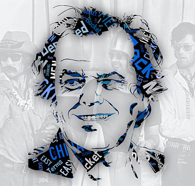 Jack Nicholson Mixed Media - Jack Nicholson Movie Titles by Marvin Blaine