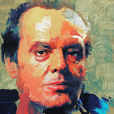 Digital Art - Jack Nicholson Portrait by Yury Malkov