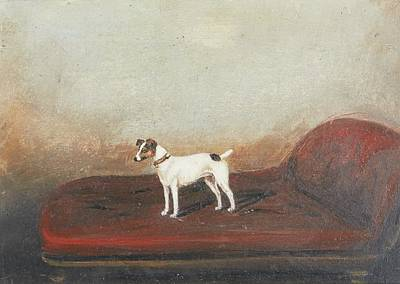 Chaise Longue Painting - Jack Russell Terrier Standing by MotionAge Designs