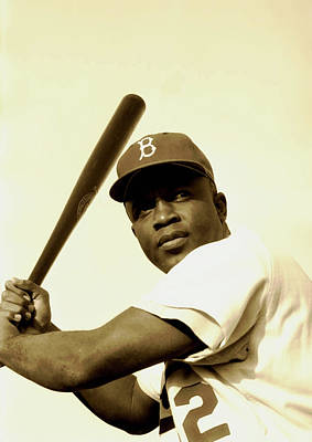 Photograph - Jackie Robinson 1952 by Mountain Dreams