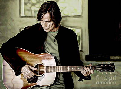 Jackson Browne Collection Art Print by Marvin Blaine