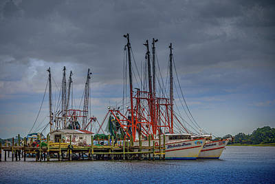 Photograph - Jacksonville Shrimp Boat Dock by Barry Jones