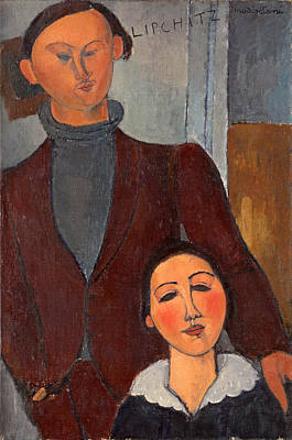 Painting - Jacques And Berthe Lipchitz by Amedeo Modigliani