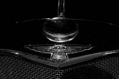 Photograph - Jaguar Hood Emblem by Steven Parker