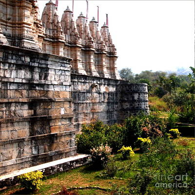 Photograph - Jain Temple Exterior by Jacqueline M Lewis