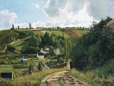 Camille Pissarro Painting - Jalais Hill, Pontoise by Camille Pissarro
