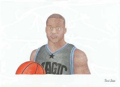 Jameer Nelson Art Print by Toni Jaso