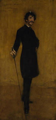 Painting - James Abbott Mcneill Whistler by William Merritt Chase